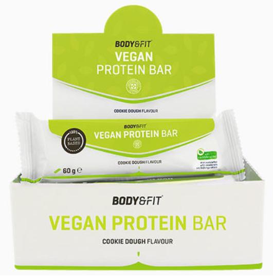 Vegan protein bar body & fit
